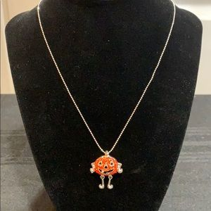 NWT Silver toned Halloween necklace